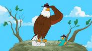 Agent E salutes Perry