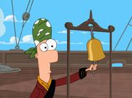 Pirate Ferb rings the bell