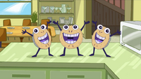 Three dancing pies