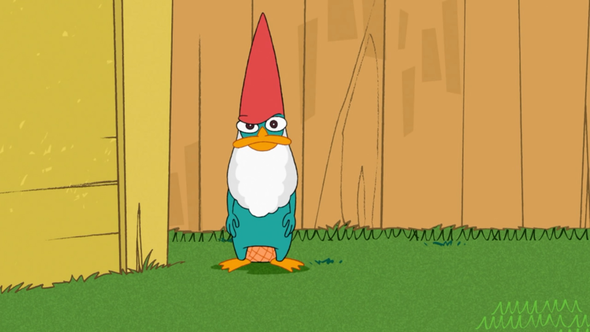 Perry As A Lawn Gnome
