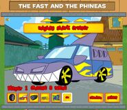The Fast and the Phineas game car customization