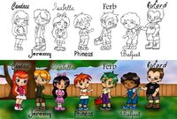 Phineas and Ferb Chibis -- combined, by Fallonkyra