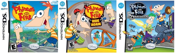 Phineas and Ferb DS games