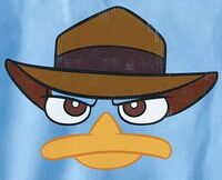 Agent P face with hat t-shirt