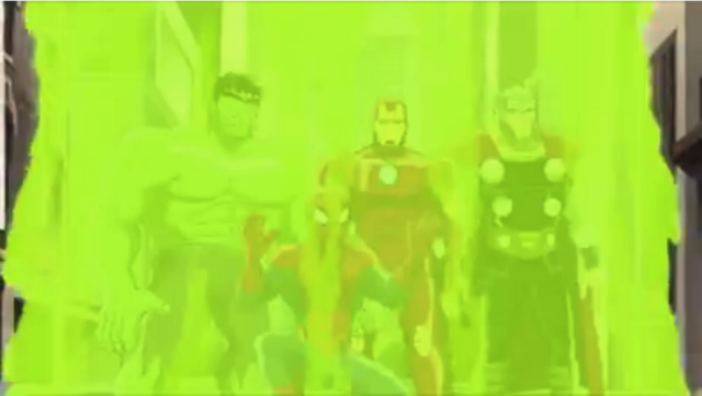 File:Marvel - Hulk, Spidey, Iron Man and Thor zapped.png