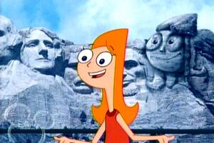 Candace and her monument