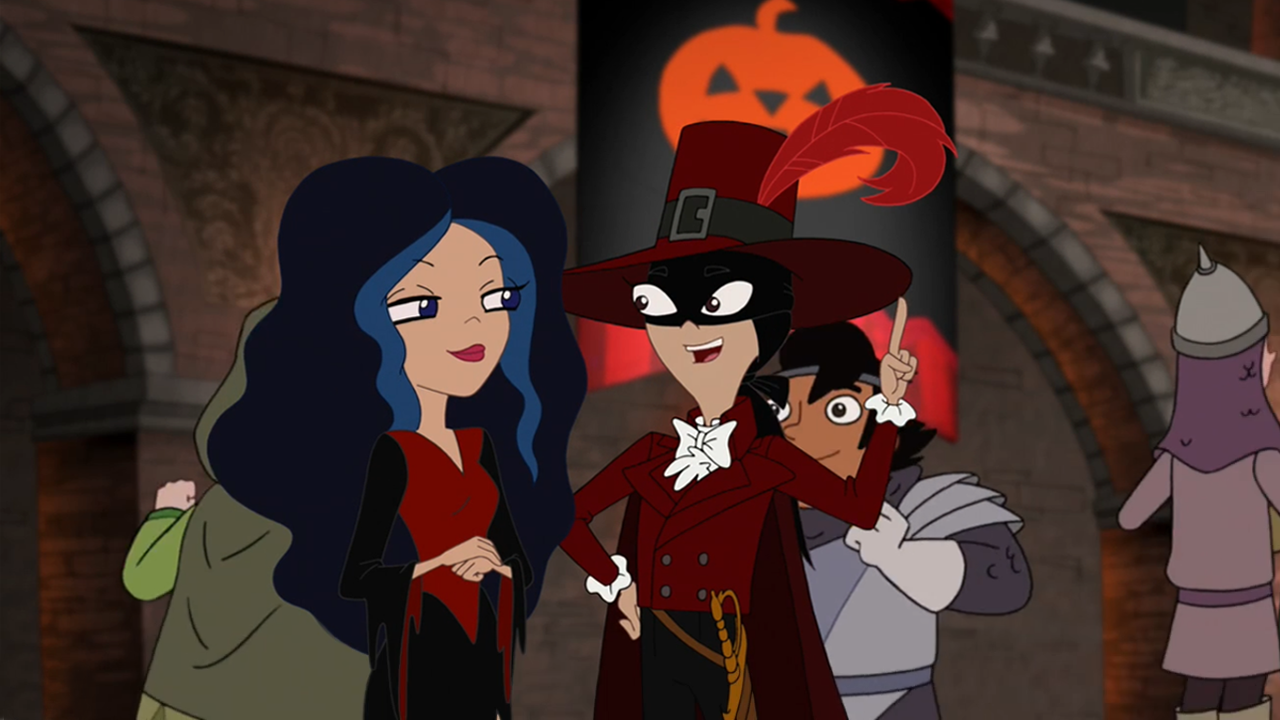 image - stacy and vanessa in halloween costumes | phineas and