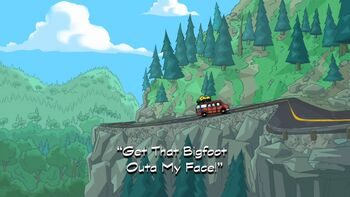 Get That Bigfoot Outa My Face! title card2