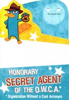 Hallmark 'Honorary OWCA agent' birthday card