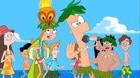 Ferb canta festa in spiaggia