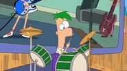 Ferb drumming
