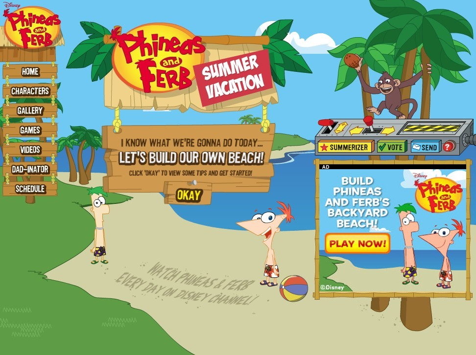 Summer Vacation Summerizer Phineas And Ferb Wiki
