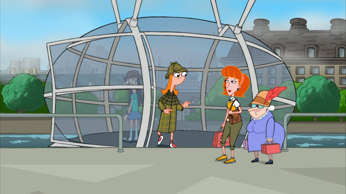 image candace coming out of london eye jpg phineas and ferb