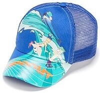 Wipeout surfing baseball cap