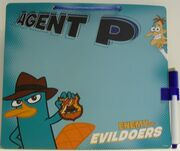 Hanging dry erase board - Agent P, Enemy of Evildoers