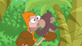 Monkey kisses Candace