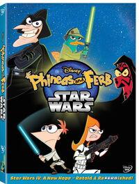 PhineaAndFerb StarWarsDVDcover