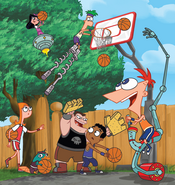 Phineas and Ferb Promotional Image Sports