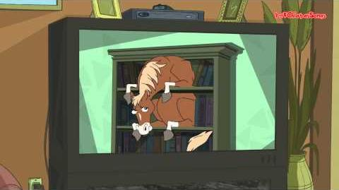 Phineas and Ferb - Horse in a Bookcase