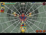 Spider-Man's web attack