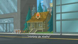 História de Abelha - Cartão do Título