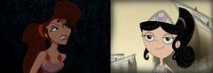 Megara e Isabella - comparação