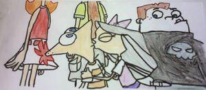 Beijo de Phineas e Isabella (wild kratts 11) 060