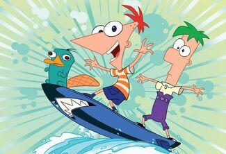 Phineas e Ferb Surfando