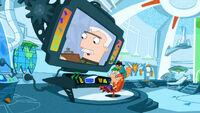 Phineas e Ferb no covil de Perry