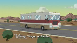 Viagem em Família - Cartão do Título