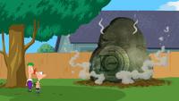 PeD - Cápsula misteriosa cai no quintal