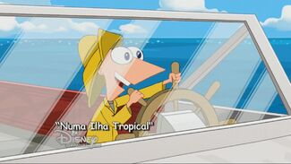 Numa Ilha Tropical - Cartão do Título 2