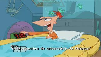 Retrospectiva de Aniversário do Phineas - Cartão do Título