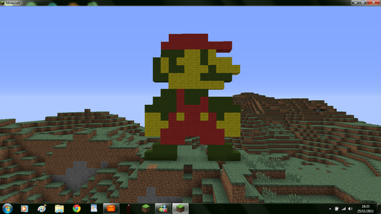 Mario in MC (Minecraft)