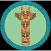 Distintivo de Esculpir um Totem