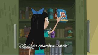 Feliz Aniversário, Isabella - Cartão do Título
