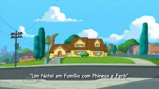 Um Natal em Família Com Phineas e Ferb - Cartão do Título