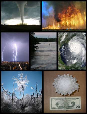 Severe weather montage