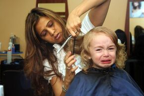 Kid Hates Getting Haircut