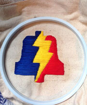 Samanthas first embroidery project