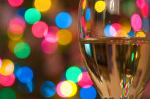 White wine bokeh