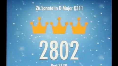 Piano Tiles 2 Sonata in D Major Mozart World Record K311 High Score 2802 Piano Tiles 2 Song 26