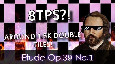 "8TPS CRAZY DOUBLE TILES in Etude Op.39 No.1 ""Comme le vent"" - Piano Tiles 2 Custom Song"