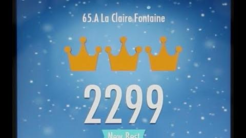 Piano Tiles 2 A La Claire Fontaine High Score 2299 Piano Tiles 2 Song 65