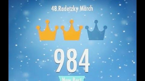 Piano Tiles 2 radetzky march Johann Strauss High Score 984 Piano Tiles 2 Song 48