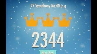 Piano Tiles 2 Symphony No.40 in G Mozart High Score 2344 Piano Tiles 2 Song 27