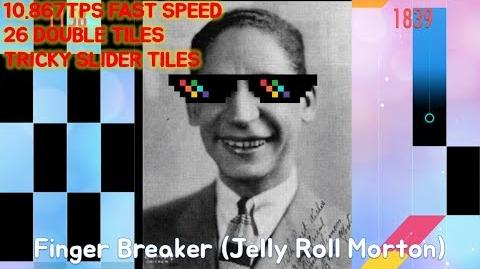 TRICKY IMPOSSIBLE SONG!! - Finger Breaker (Jelly Roll Morton) in Piano Tiles 2!