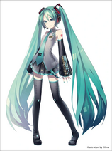 Hatsune Miku doll illustration