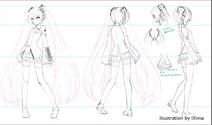 Hatsune Miku doll concept art