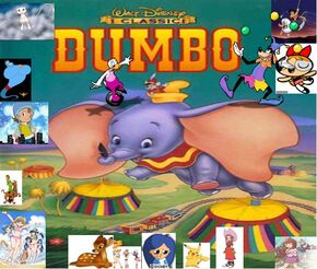 Luchia and his friends meet Dumbo